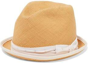 f310ac1b6e7 Rag   Bone Canvas-trimmed Straw Fedora
