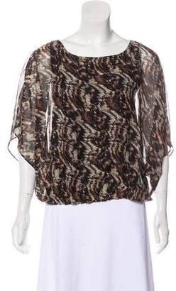 Alice + Olivia Printed Woven Top