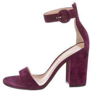 Gianvito Rossi Suede Ankle-Strap Sandals