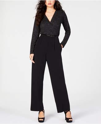 Thalia Sodi Belted Sparkle Jumpsuit