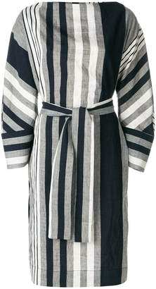 Vivienne Westwood oversized striped belted dress