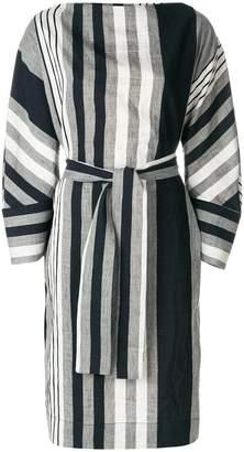 Vivienne Westwood oversized striped belted dress