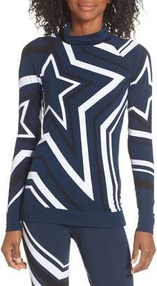 Sweaty Betty Festive Star Seamless Base Layer Top