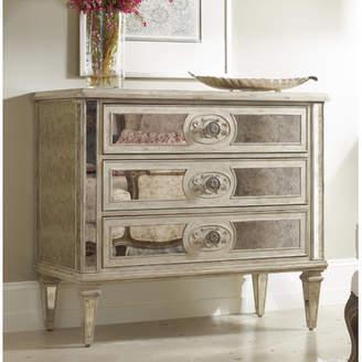 Hooker Furniture Cortes 3 Drawer Antique Mirrored Chest