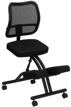 Symple Stuff Woolbright Mobile Mid-Back Height Adjustable Kneeling Chair with Dual Wheel