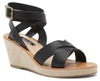 Kensie Venezia Leather Wedge Sandal