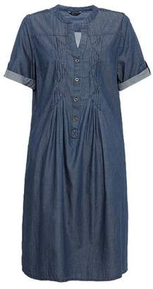 Marks and Spencer Pure Cotton Pleated Front A-Line Dress