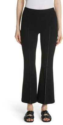Rosetta Getty Crepe Jersey Crop Flare Pants