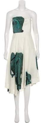 Tibi Linen Midi Dress