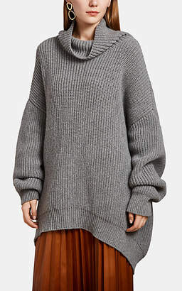 Givenchy Women's Alpaca-Wool Oversized Turtleneck Sweater - Gray