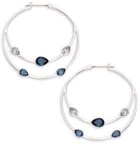 070905930 Swarovski Gaze Teardrop Crystal Hoop Earrings