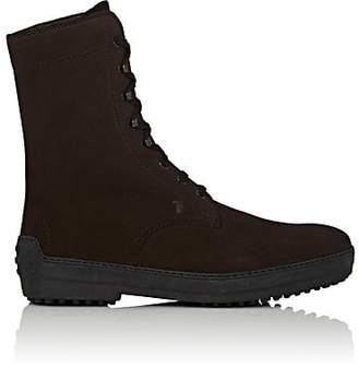 Tod's MEN'S SUEDE LACE-UP BOOTS - DK. BROWN SIZE 7.5 M