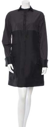 Bottega Veneta Silk-Blend Shift Shirtdress