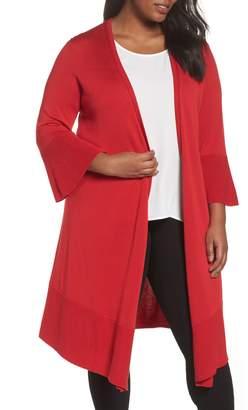 Foxcroft Mila Bell Sleeve Long Cardigan