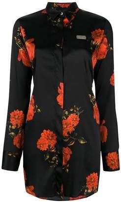 Philipp Plein floral shirt