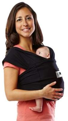 Baby K'tan® Baby Carrier in Black $49.99 thestylecure.com