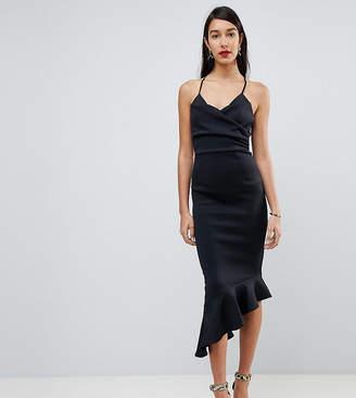 Asos Tall TALL Scuba Cami Pephem Midi Dress