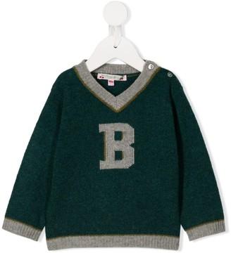 Bonpoint B logo sweater
