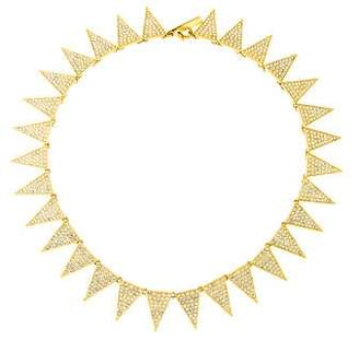 Eddie Borgo Flat Pavé Triangle Collar Necklace