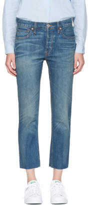 RE/DONE Indigo Relaxed Crop Jeans