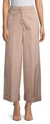 Valentino Wide-Leg Foldover Pants