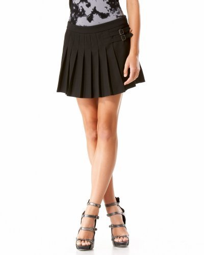 Sleek Double Stitched Pleated Mini Skirt