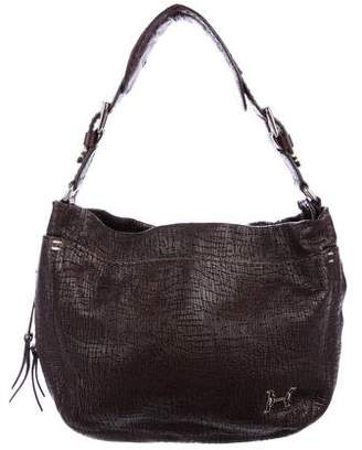 Halston Textured Leather Satchel