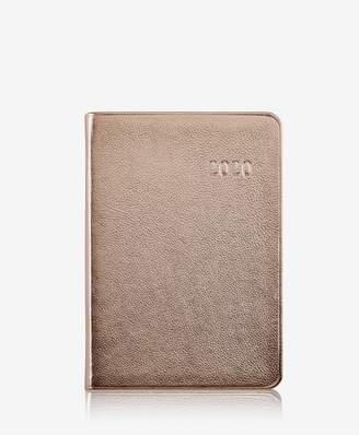 GiGi New York 2020 Daily Journal In Rose Gold Metallics Leather
