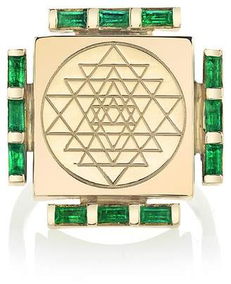 ARK Fine Jewelry Emerald Engraved Manifestation Ring