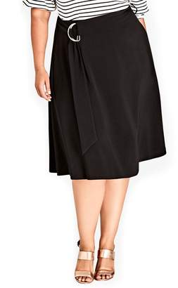 City Chic Joyful A-Line Skirt