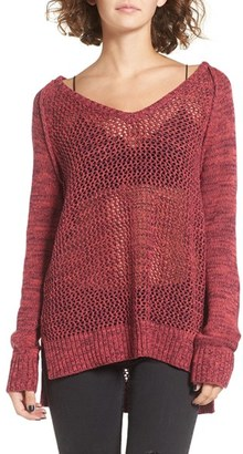 Roxy Open Knit Cotton Pullover $49.50 thestylecure.com