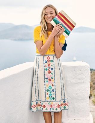 Boden Brooke Embroidered Skirt