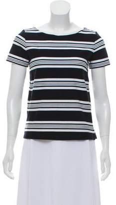 Max Mara Striped Short Sleeve Top