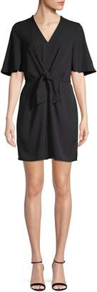 Dex Short Sleeve Tie-Front Shift Dress