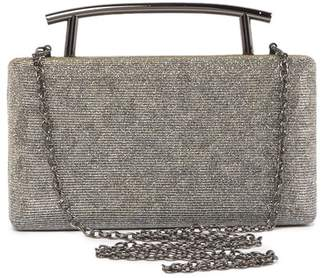 Sondra Roberts Glitter Metal Box Clutch