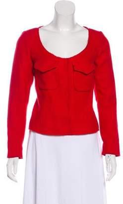 Miu Miu Wool & Mohair Scoop Neck Jacket