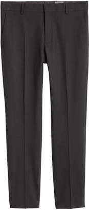 H&M Wool Suit Pants Skinny fit - Black