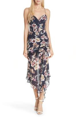 Nicholas Garden Rose Silk Midi Dress