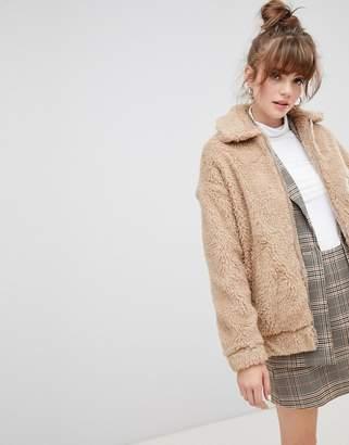 New Look Teddy Aviator Coat