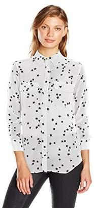 dd728ec503f325 Equipment Women s Sandwashed Crepe De Chine Silk Slim Signature Blouse  Button Down Shirt