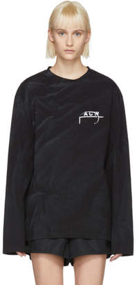 A-Cold-Wall* Black Long Sleeve 17 Leavers T-Shirt