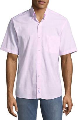 Tailorbyrd Gingham Short-Sleeve Sport Shirt