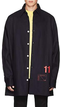 "Raf Simons Men's ""11"" Denim Oversized Shirt Jacket"