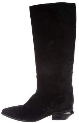 Alexander Wang Velvet Pointed-Toe Boots