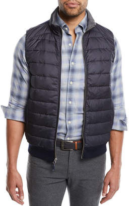 Peter Millar Men's Crown Elite Light Hybrid Puffer Vest