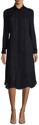 Carolina Herrera Women's Pintuck Silk Dress