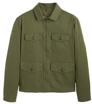Zipped cotton field jacket