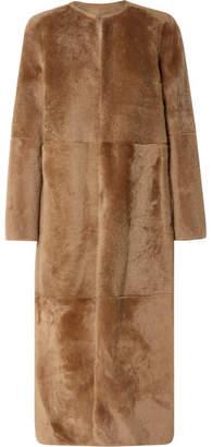 Yves Salomon Reversible Shearling Coat - Tan