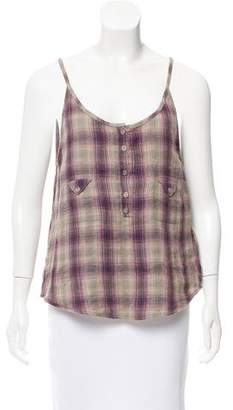 IRO Plaid Sleeveless Top