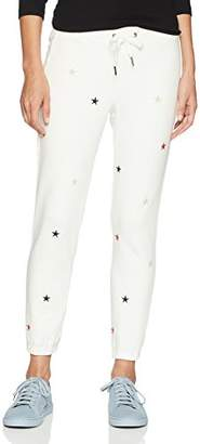 Pam & Gela Women's Basic Sweatpant with Embroidered Stars